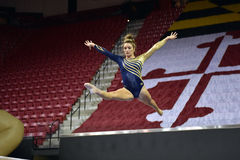 2015 NCAA Damesgymnastiek - WVU Royalty-vrije Stock Fotografie