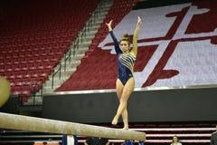 2015 NCAA Damesgymnastiek - WVU Royalty-vrije Stock Afbeeldingen