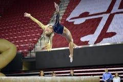 2015 NCAA Damesgymnastiek - WVU Royalty-vrije Stock Afbeelding