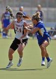 NCAA (de LOSSE) Lacrosse van Vrouwen Stock Afbeelding