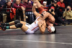 2015 NCAA die - Harvard @ Maryland worstelen Royalty-vrije Stock Foto