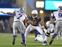2014 NCAA Football action - WVU-Kansas State Royalty Free Stock Photography