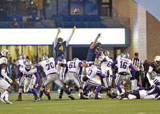 2014 NCAA Football action - WVU-Kansas State Royalty Free Stock Image
