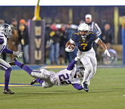 2014 NCAA Football action - WVU-Kansas State Royalty Free Stock Photos