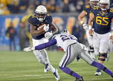 2014 NCAA Football action - WVU-Kansas State Stock Image