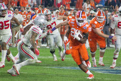 NCAA Football Clemson Tigers at the Fiesta Bowl. The Clemson Tigers clobbered the Ohio State Buckeyes, 31-0, before a capacity crowd in the Playstation® Fiesta Stock Image