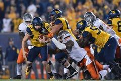 2015 NCAA Football - Oklahoma State at West Virginia Stock Photos
