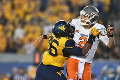 2015 NCAA Football - Oklahoma State at West Virginia Royalty Free Stock Images