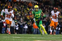 NCAA Football - Oregon at Oregon State Royalty Free Stock Images