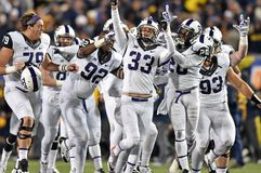 2014 NCAA Football - TCU-WVU Royalty Free Stock Photo