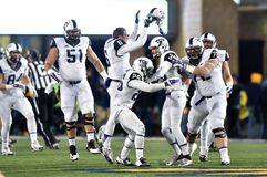 2014 NCAA Football - TCU-WVU Royalty Free Stock Photos