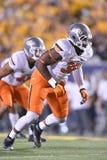 2015 NCAA-fotboll - Oklahoma tillstånd på West Virginia Royaltyfri Fotografi