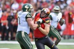 2015 NCAA-fotboll - USF @ Maryland Royaltyfri Bild