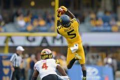2015 NCAA-Fußball - Maryland @ WVU Lizenzfreie Stockfotos