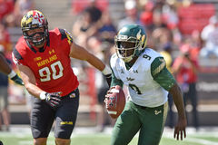 2015 NCAA-Fußball - USF @ Maryland Stockfotografie
