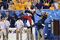 2014 NCAA-Fußball - WVU-Oklahoma Stockfoto
