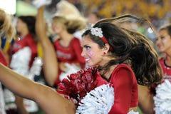 2014 NCAA-Fußball - WVU-Oklahoma Lizenzfreie Stockfotos