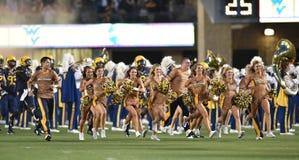 2014 NCAA-Fußball - WVU-Oklahoma Lizenzfreies Stockfoto