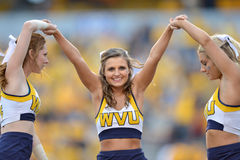 2015 NCAA futbol - Maryland @ WVU Obrazy Royalty Free