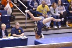 2015 NCAA Gymnastiek - Staat WVU-Penn Stock Afbeeldingen