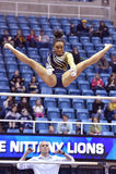 2015 NCAA Gymnastiek - Staat WVU-Penn Stock Foto's
