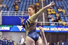 2015 NCAA Gymnastiek - Staat WVU-Penn Royalty-vrije Stock Foto