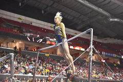 2015 NCAA Gymnastiek - West-Virginia Stock Foto's