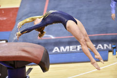 2015 NCAA Gymnastiek - West-Virginia Stock Foto