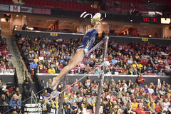 2015 NCAA-Gymnastik - West Virginia Lizenzfreie Stockbilder