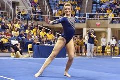 2015 NCAA-Gymnastik - WVU-Pennzustand Lizenzfreie Stockfotos