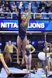 2015 NCAA-Gymnastik - WVU-Pennzustand Lizenzfreie Stockfotografie