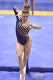 2015 NCAA-Gymnastik - WVU-Pennzustand Stockfoto