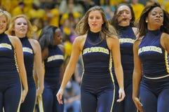 NCAA het basketbal 2012 van Mensen - cheerleadersdansers Royalty-vrije Stock Foto