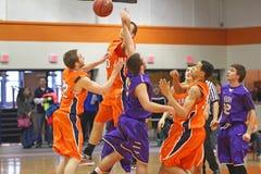 NCAA het Basketbal van Jongens Royalty-vrije Stock Foto's