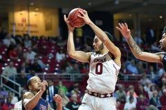 2015 NCAA het Basketbal van Mensen - FDU bij Tempel Stock Foto's