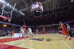 2015 NCAA het Basketbal van Mensen - tempel-Houston Stock Foto's