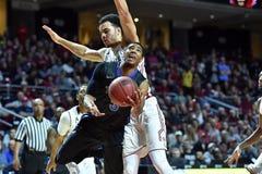 2015 NCAA het Basketbal van Mensen - tempel-Tulsa Royalty-vrije Stock Foto's