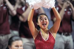 2014 NCAA het Basketbal van Mensen - TEMPEL versus LIU Stock Fotografie