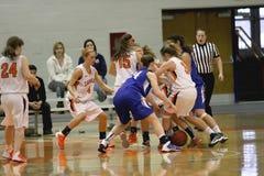 NCAA het Basketbal van Vrouwen Stock Foto