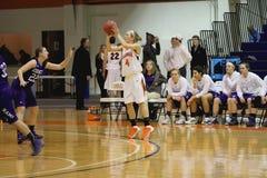 NCAA het Basketbal van Vrouwen Royalty-vrije Stock Foto's