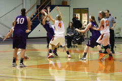 NCAA het Basketbal van Vrouwen Stock Afbeelding