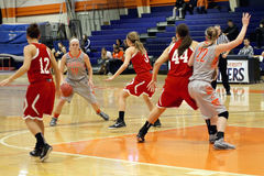 NCAA het Basketbal van Vrouwen Stock Foto's