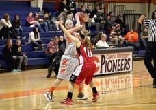 NCAA het Basketbal van Vrouwen Stock Fotografie