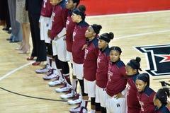 2015 NCAA het Basketbal van Vrouwen - Tempel versus de Staat van Delaware Royalty-vrije Stock Afbeelding