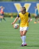 2015 NCAA het Voetbal van Vrouwen - Villanova @ WVU Stock Fotografie