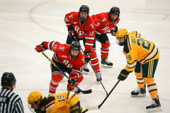 NCAA Hockey Game Stock Photo