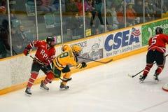 NCAA Hockeyspel Royalty-vrije Stock Foto's