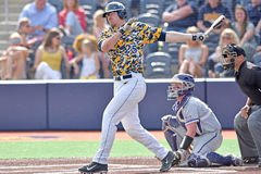 2015 NCAA Honkbal - TCU @ WVU Stock Foto