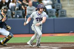 2015 NCAA Honkbal - wvu-TCU Royalty-vrije Stock Foto