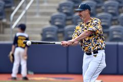 2015 NCAA Honkbal - wvu-TCU Stock Foto